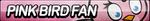 Pink Bird Fan Button by ButtonsMaker