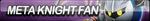 Meta Knight Fan Button (UPDATED) by ButtonsMaker