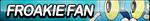Froakie Fan Button by ButtonsMaker