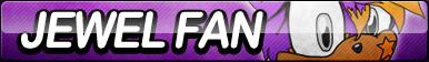 Jewel Fan Button by ButtonsMaker