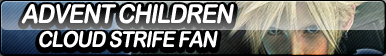 Advent Children: Cloud Strife Fan Button