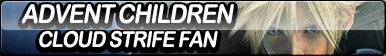 Advent Children: Cloud Strife Fan Button by ButtonsMaker