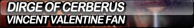 Dirge of Cerberus: Vincent Valentine Fan Button