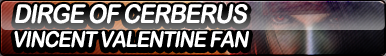 Dirge of Cerberus: Vincent Valentine Fan Button