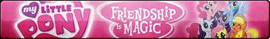 MLP: Friendship is Magic Fan Button (Edited) by ButtonsMaker