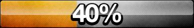40% Progress Button