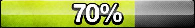 70% Progress Button by ButtonsMaker