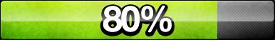 80% Progress Button by ButtonsMaker