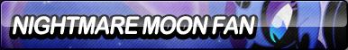 Nightmare Moon Fan Button