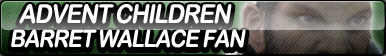 Advent Children: Barret Wallace Fan Button