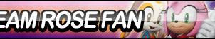 Team Rose Fan Button by ButtonsMaker