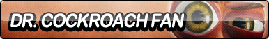 Dr. Cockroach Fan Button