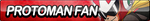 Protoman Fan Button by ButtonsMaker