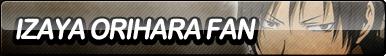 Izaya Orihara Fan Button by ButtonsMaker