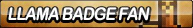 Llama Badge Fan Button by ButtonsMaker