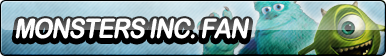 Monsters Inc. Fan Button