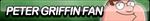 Peter Griffin Fan Button by ButtonsMaker