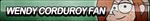 Wendy Corduroy Fan Button by ButtonsMaker