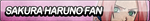 Sakura Haruno Fan Button by ButtonsMaker