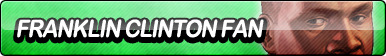 Franklin Clinton Fan Button