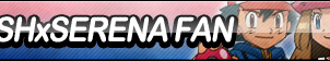 Ash x Serena Fan Button by ButtonsMaker