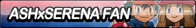 Ash x Serena Fan Button