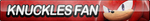 Knuckles (Sonic Boom) Fan Button (UPDATED) by ButtonsMaker