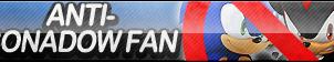 Anti-Sonadow Fan Button (Yaoi) by ButtonsMaker