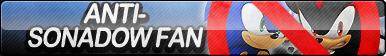 Anti-Sonadow Fan Button (Yaoi)