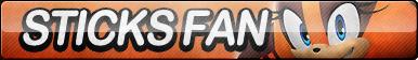 Sticks the Jungle Badger Fan Button (UPDATED)