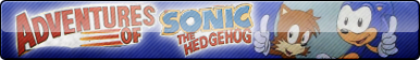 Adventures of Sonic The Hedgehog Fan Button by ButtonsMaker