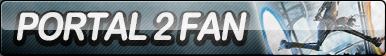 Portal 2 Fan Button (Resubmit) by ButtonsMaker