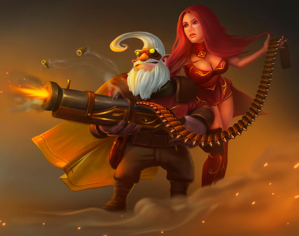 dota 2 sniper and lina by bonn y on deviantart