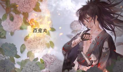 burning hydrangea - Hyakkimaru - Dororo Edit by xAkumaAkii