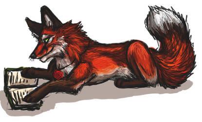 Reading Fox by firedanceryote