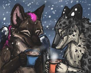 Hot Cocoa and Mocha by firedanceryote