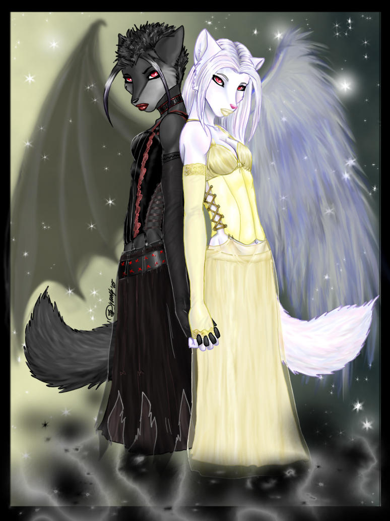 Dark n' Light- Twins by odduckoasis