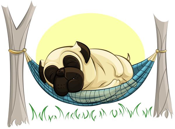 Pug in a Hammock by ScribalWriter