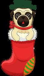 Christmas Pug by ScribalWriter