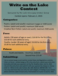 Lake Winnipeg Writer's Group Writing Contest by ScribalWriter
