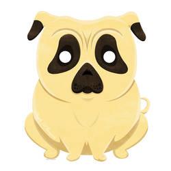 Cartoon Chubby Pug by ScribalWriter