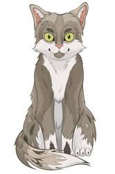 Grey Cat by ScribalWriter
