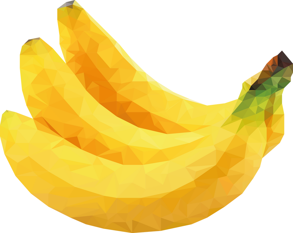 low poly banana by oddkh1