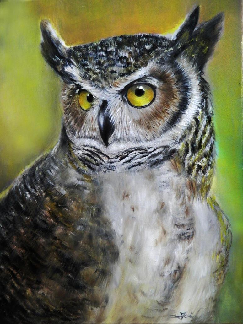 owloriginal oil paintingfor sale on etsy by katojade on