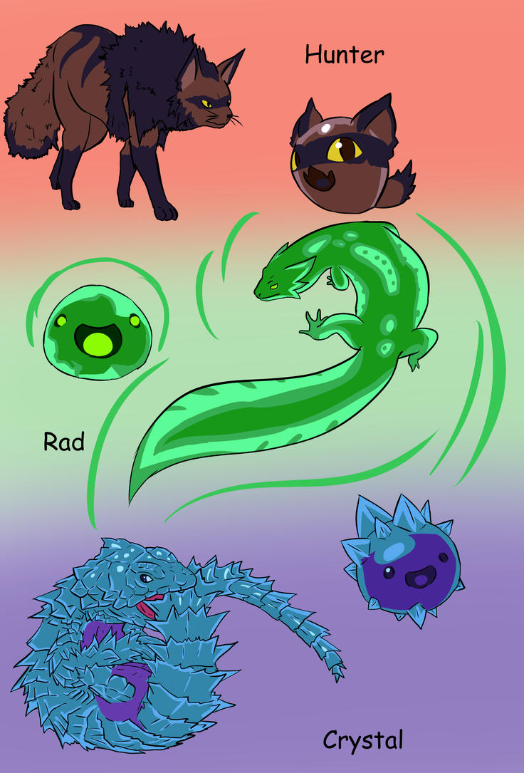 Slimes as animals Remake by XDeadDragonX98