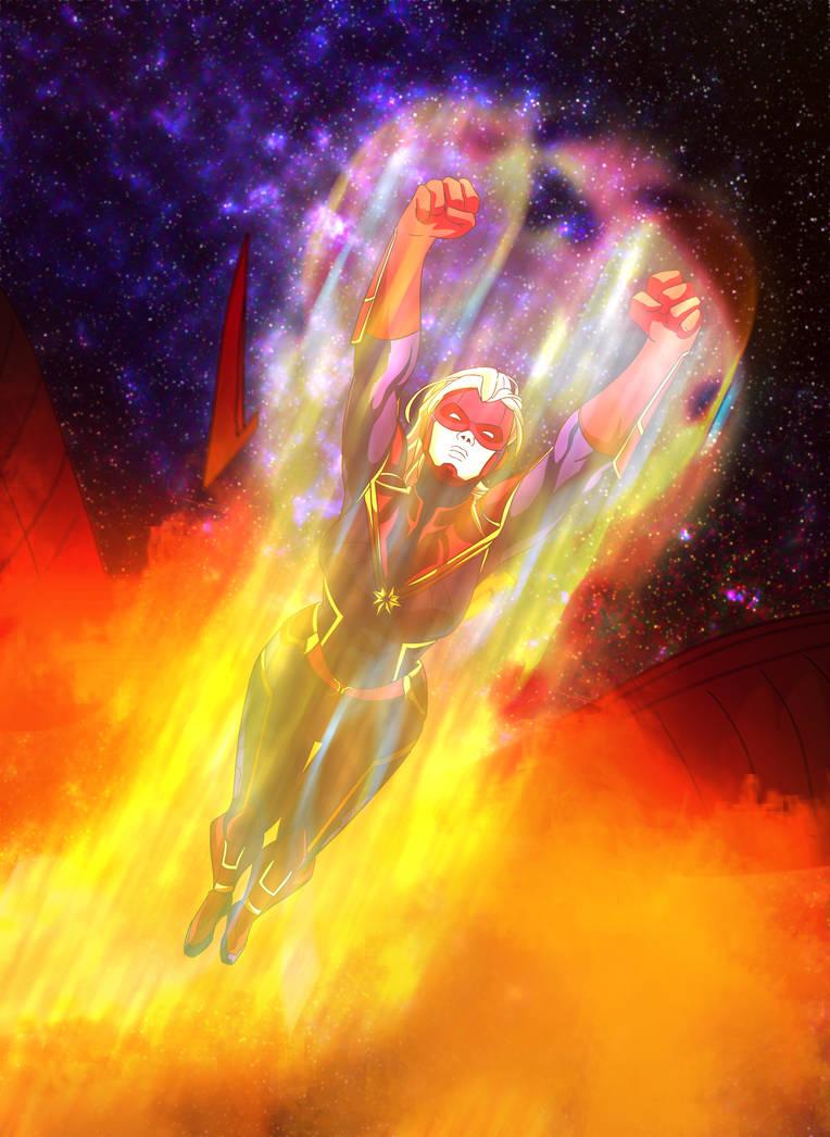 Capitan Marvel by XDeadDragonX98