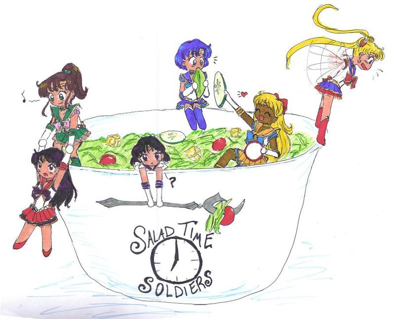 Salad Time Soldiers by TokuTenshi