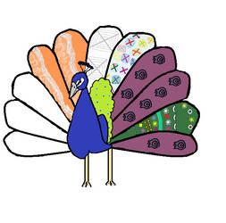 Pattern Peacock by tatihienahtf