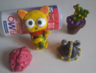 Polymer Clay Pieces by tatihienahtf