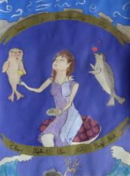 Princess with baby seals by tatihienahtf